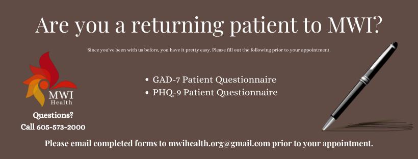 Returning Patient Paperwork